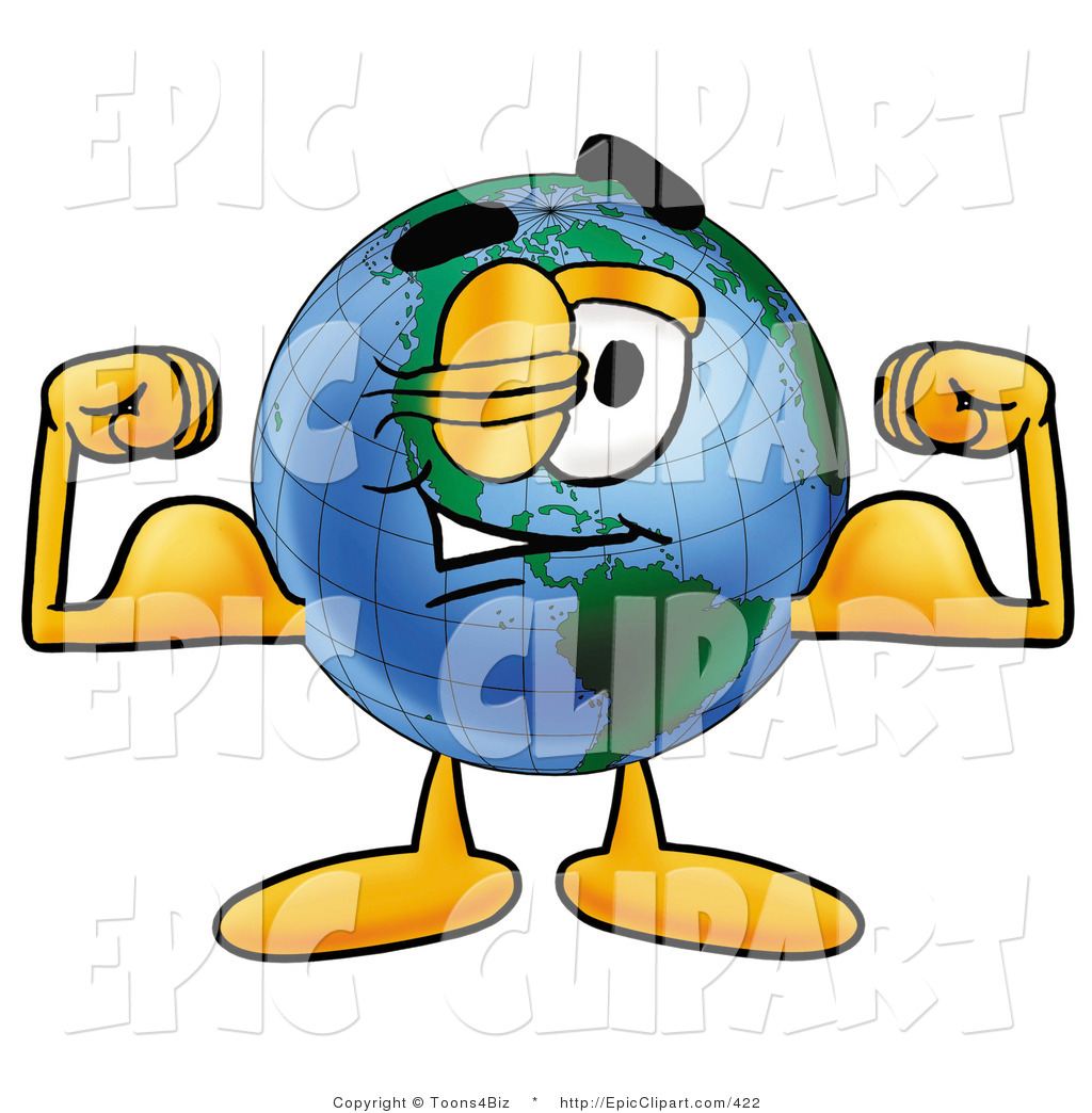 Clipart animated flexiong arm free library Clip Art of a Muscular World Earth Globe Mascot Cartoon Character ... free library