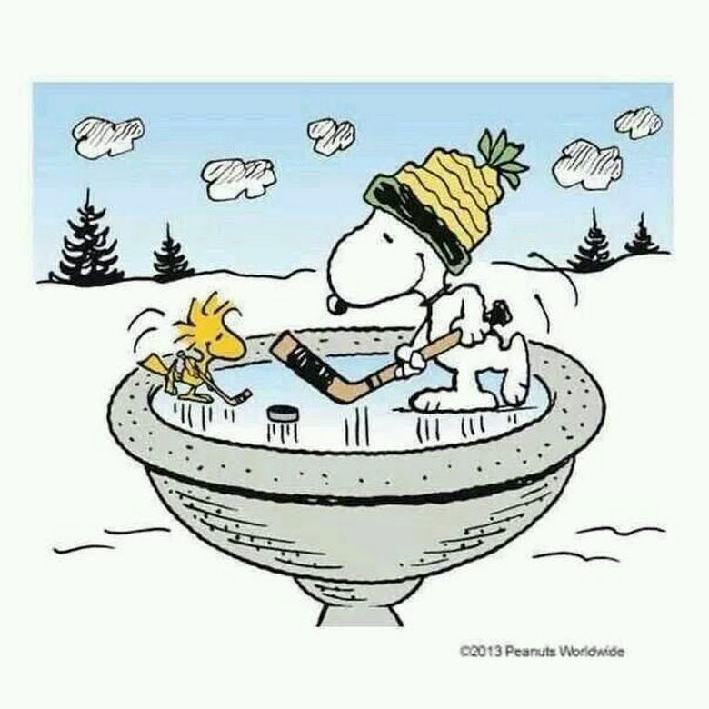 Clipart animated snoopy woodstock zamboni snow images banner Snoopy and Woodstock playing hockey on frozen bird bath #snoopy ... banner