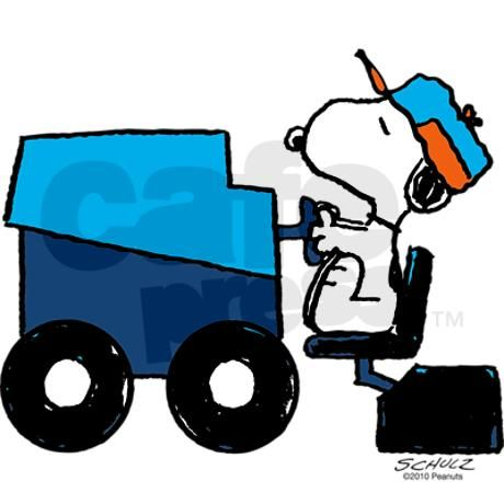 Clipart animated snoopy woodstock zamboni snow images clip black and white stock Snoopy Smooths the Ice Sticker (Rectangle) | Charlie Brown | Snoopy ... clip black and white stock