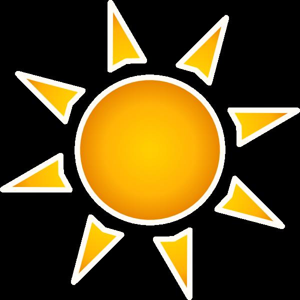Sun animated clipart