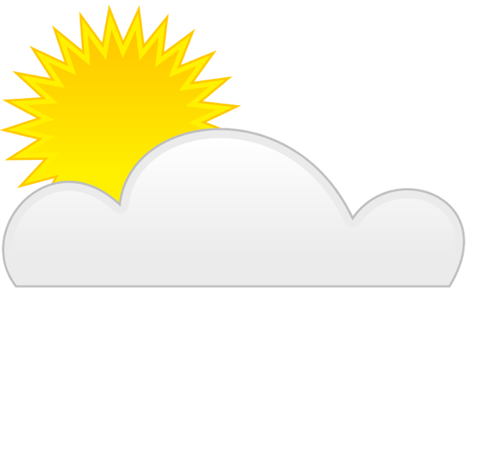 The sun shining clipart png banner transparent stock Weather Clipart - Graphics of Wind, Storms, Sun and Rain banner transparent stock