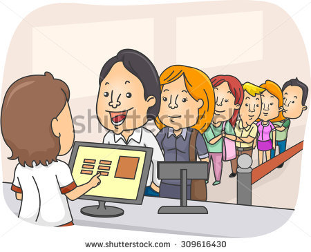 Clipart animations of a career bank of people picture Waiting In Line Stock Images, Royalty-Free Images & Vectors ... picture