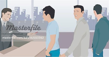Clipart animations of bank of people. Man working animation stock