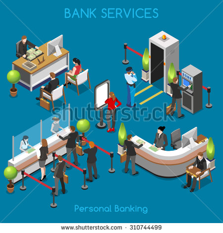 Clipart animations of bank of people. Stock images royalty free