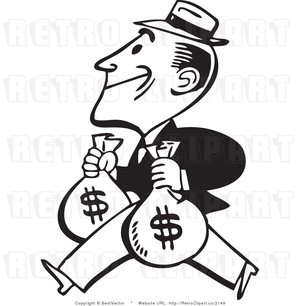 Clipart animations of bank of people clip Animated clipart of banker giving bags of cash - ClipartFest clip