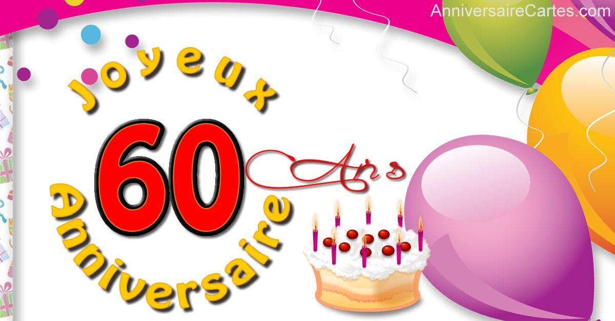Clipart anniversaire 60 ans graphic royalty free library Joyeux 60 ans avec image | timbre anniversaire | 60 ans anniversaire ... graphic royalty free library