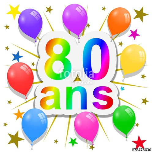 Clipart anniversaire 60 ans black and white library 80 Ans Clipart & Free Clip Art Images #17427 - Clipartimage.com black and white library