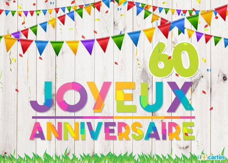 Clipart anniversaire 60 ans clipart stock 16 Cartes Joyeux anniversaire âge 60 ans (Gratuits) | 123 cartes clipart stock