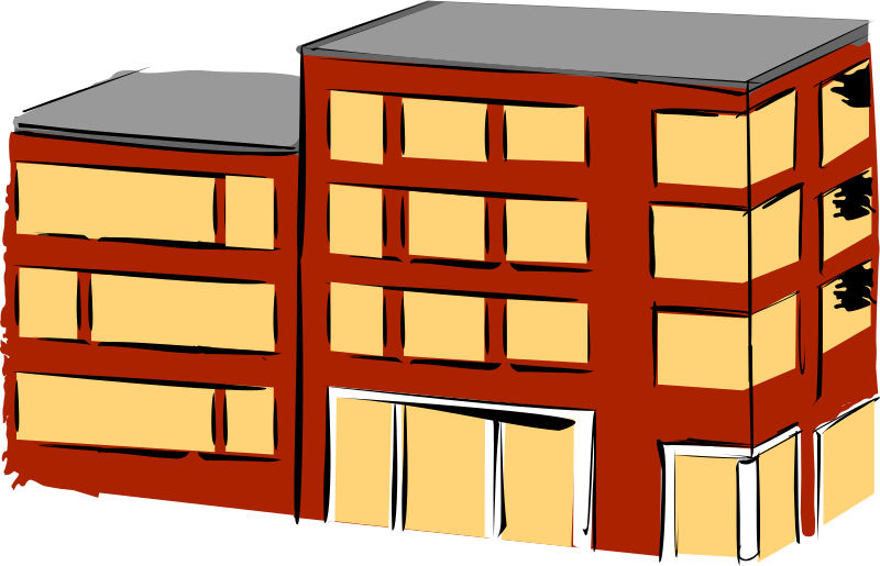 Clipart apartment house clip freeuse stock Clipart - Apartment building clip freeuse stock