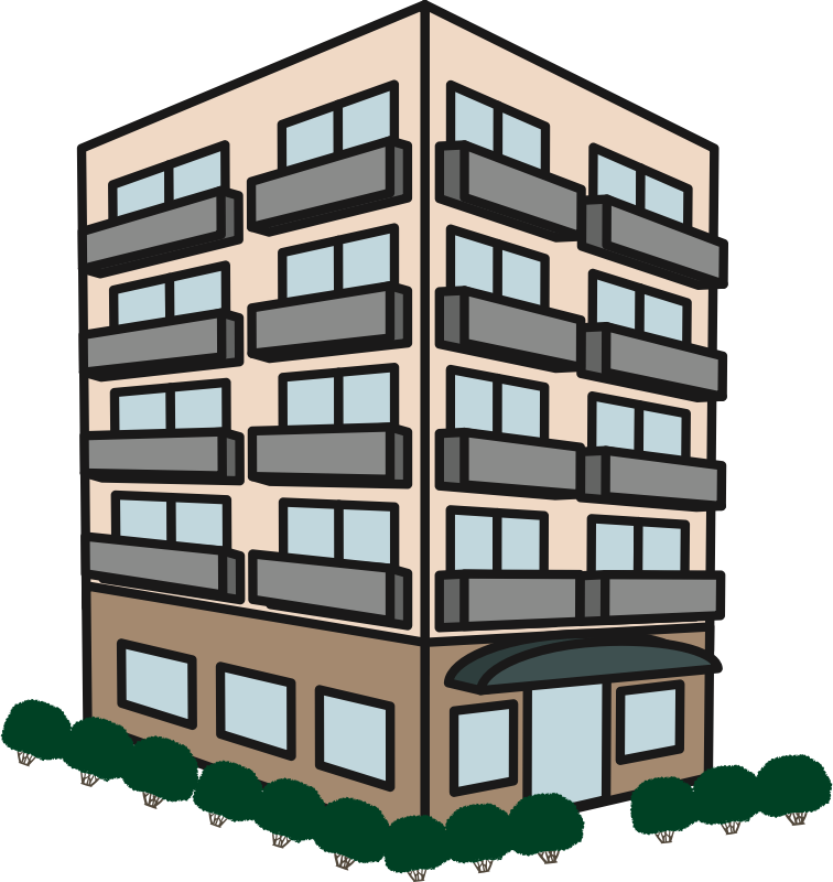 Clipart apartment house jpg black and white Clipart - Apartment Building jpg black and white