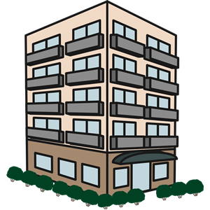 Flat cliparts picture Apartment Building clipart, cliparts of Apartment Building free ... picture