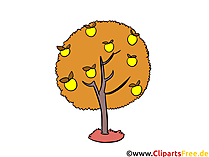 Clipart apfelbaum kostenlos vector transparent download Herbst Bilder, Cliparts, Cartoons, Grafiken, Illustrationen, Gifs ... vector transparent download