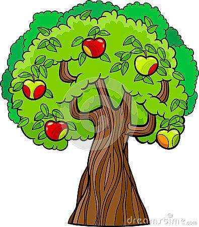 Clipart apfelbaum kostenlos. Clipartfest cartoon apple tree