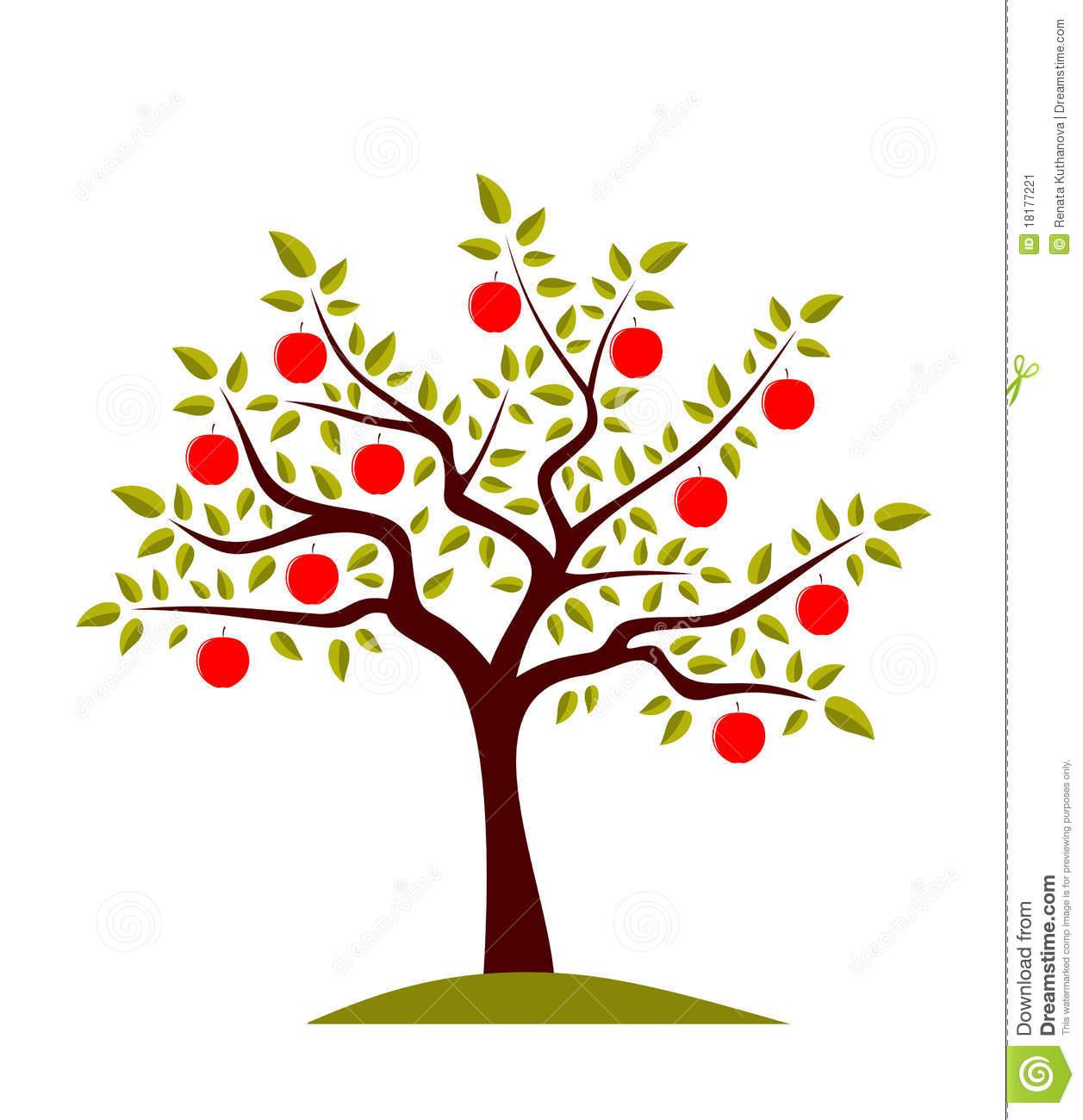 Stockbild bild. Clipart apfelbaum kostenlos