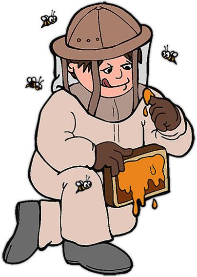 Clipart apiculteur royalty free stock Le pas à pas   Shakymiel apiculture - miels, ruches, essaims et reines royalty free stock