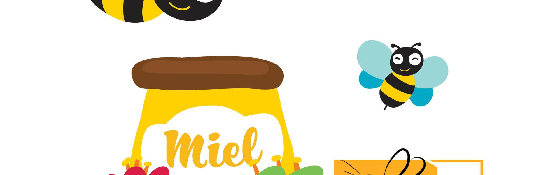 Clipart apiculteur banner transparent stock Extraction du miel des Jardins   Jardins de Brocéliande banner transparent stock