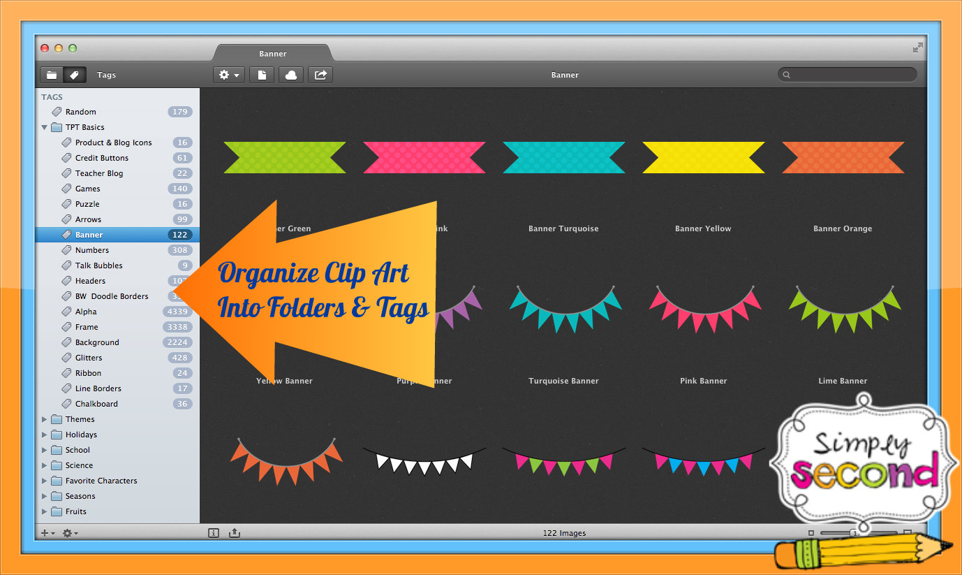 Clipart app for mac banner freeuse Teaching With Mrs. Hynst: Operation Organize Clip Art banner freeuse