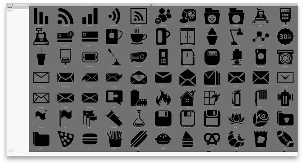 Clipart app for mac royalty free stock Clipart Collection for iWork, iWeb, iBooks Author and other ... royalty free stock
