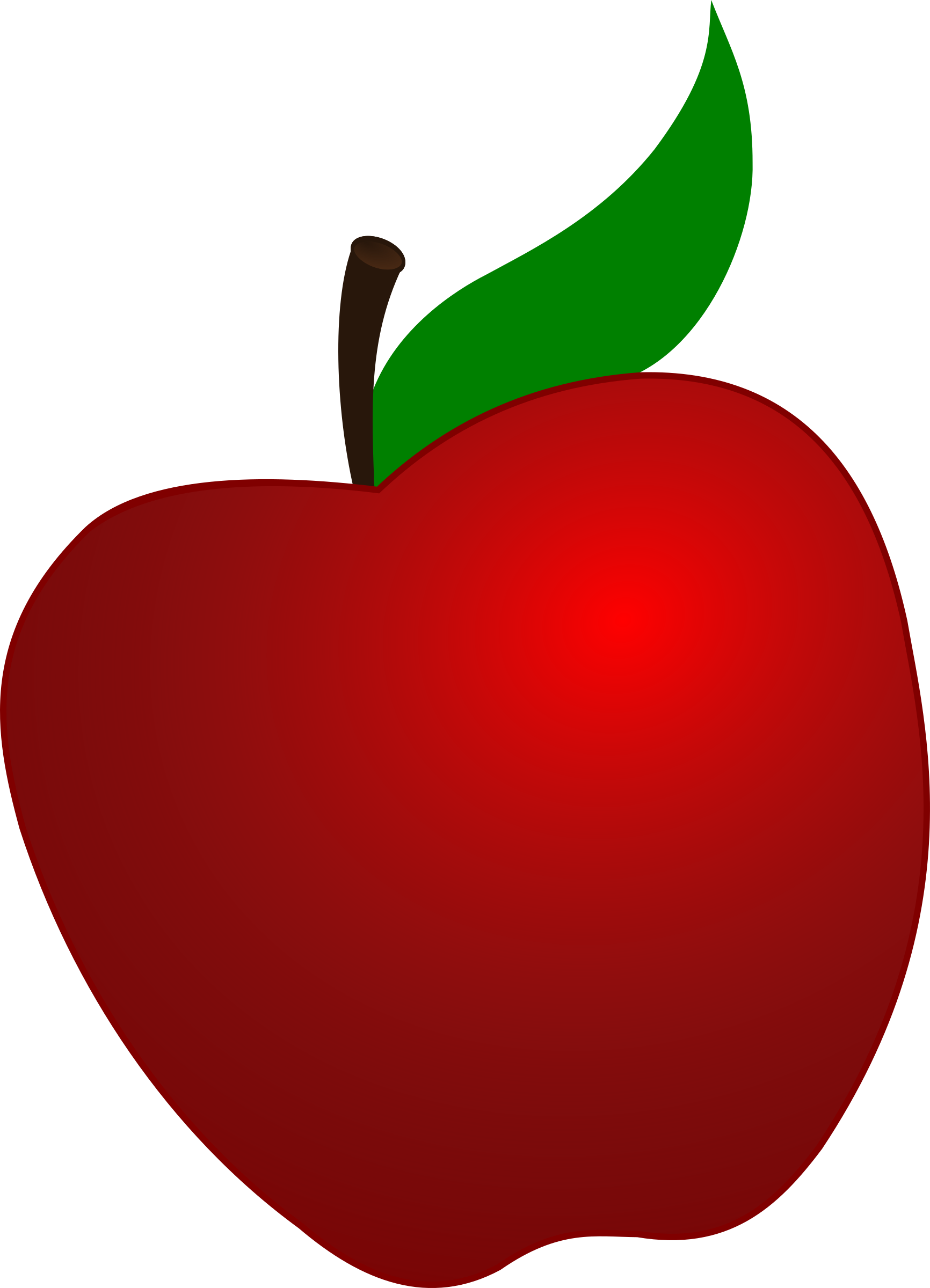 Clipart of apple black and white Clipart - Apple black and white
