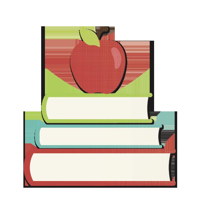 Clipart apple and books jpg stock Parent Teacher Conferences February 7-9 jpg stock