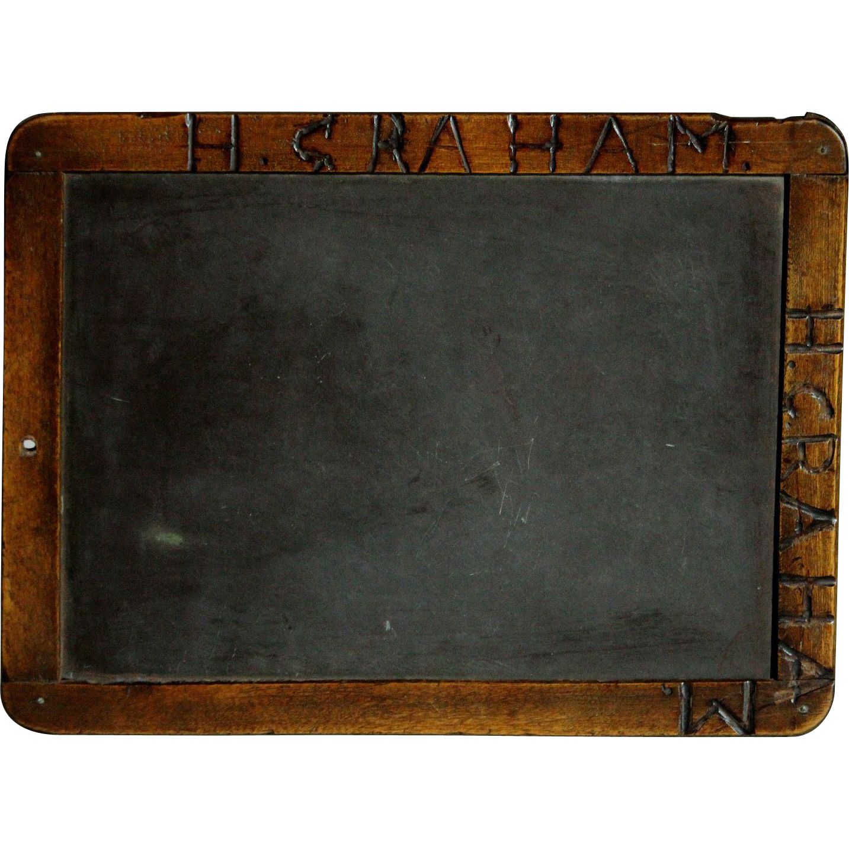 School chalkboard clipart jpg black and white Antique English 19th Century School Chalkboard - Writing Slate ... jpg black and white