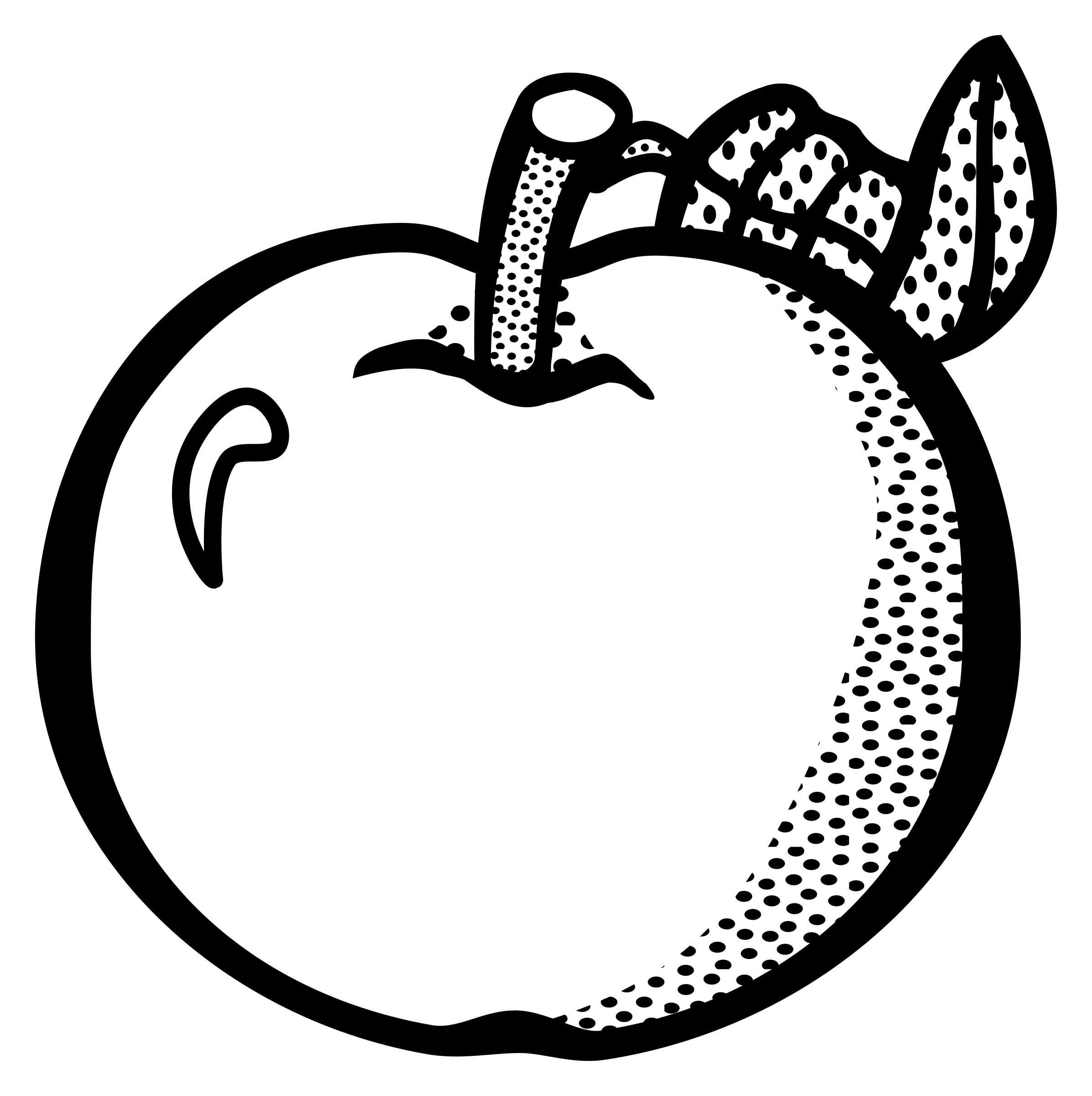 Clipart apple black and white clip art transparent Clipart - apple - lineart clip art transparent