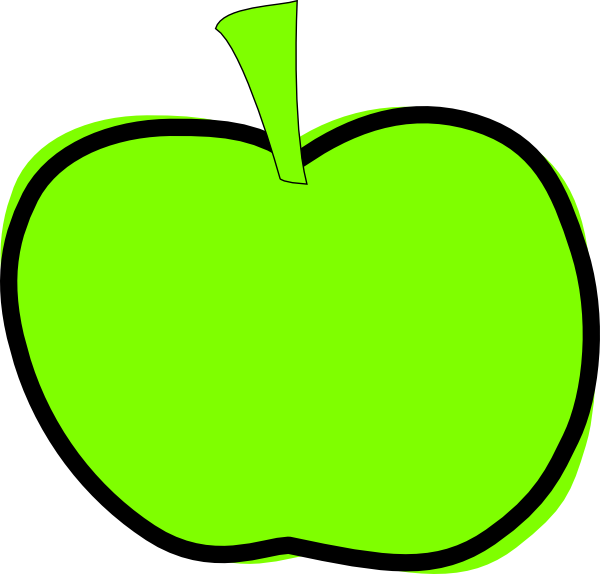 Clipart apple green picture transparent download Green Apple Clip Art at Clker.com - vector clip art online, royalty ... picture transparent download