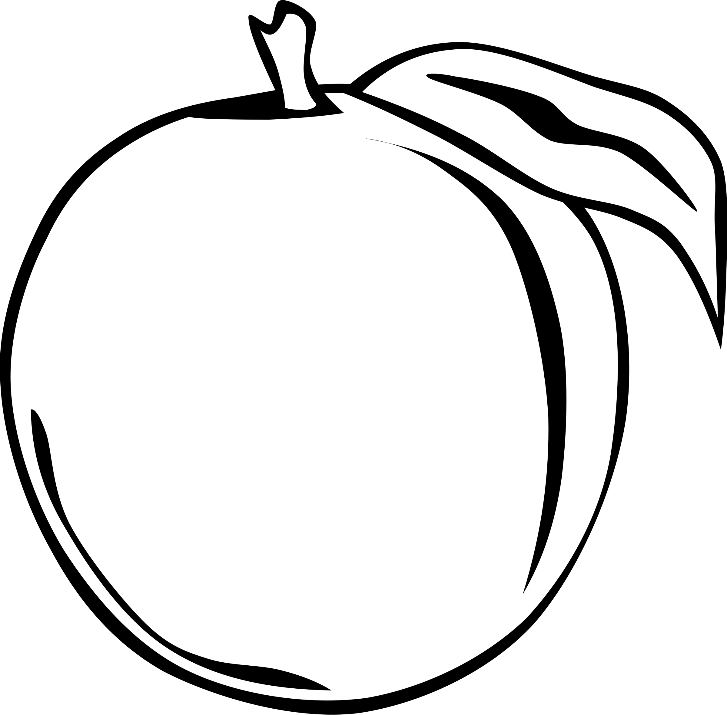 Clipart apple on book 2007 images picture black and white Clipart - Simple Fruit (FF Menu) picture black and white