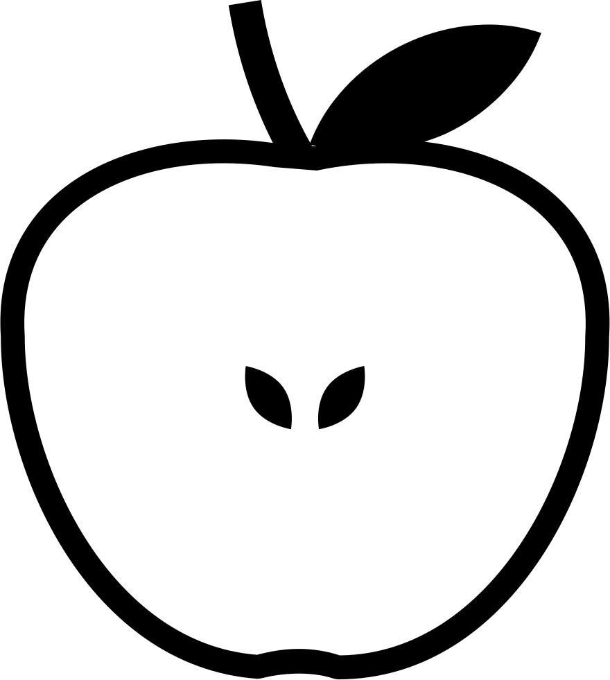 Clipart apple on book 2007 images graphic Half Apple Svg Png Icon Free Download (#58005) - OnlineWebFonts.COM graphic