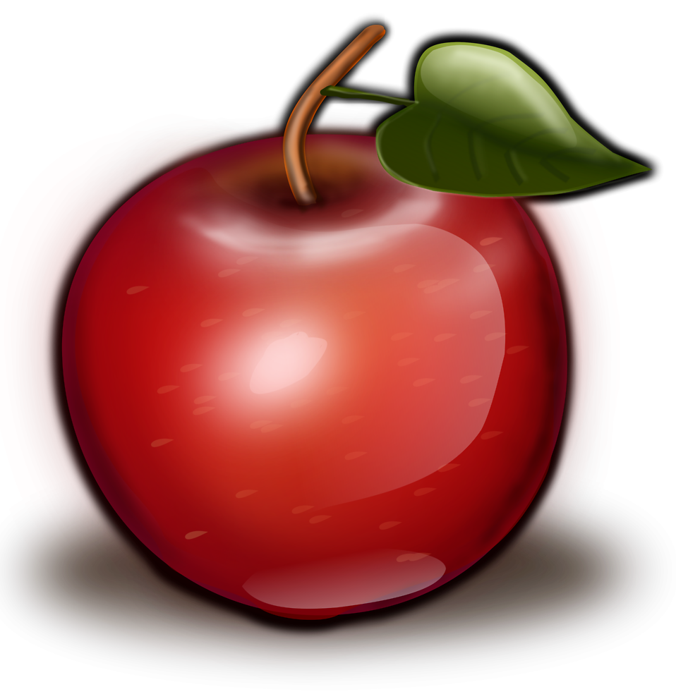 Clipart images of red apple slices picture transparent library Apple | Free Stock Photo | Illustration of a red apple | # 16787 picture transparent library