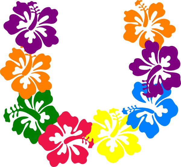 Free hawaiian thanksgiving clipart picture black and white download Hibiscus Flowers Clip Art at Clker.com - vector clip art online ... picture black and white download
