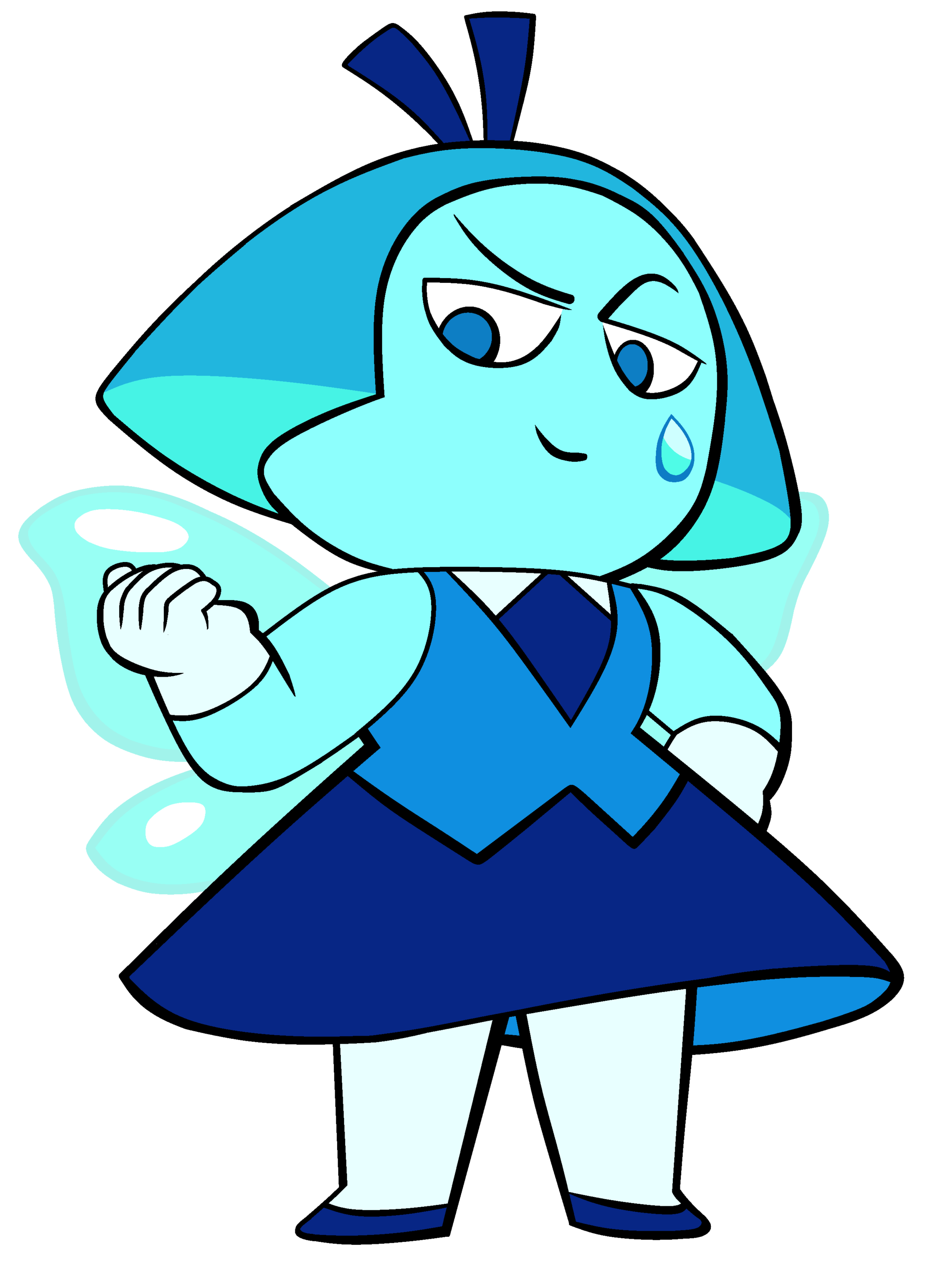 Clipart aquamarine female figure