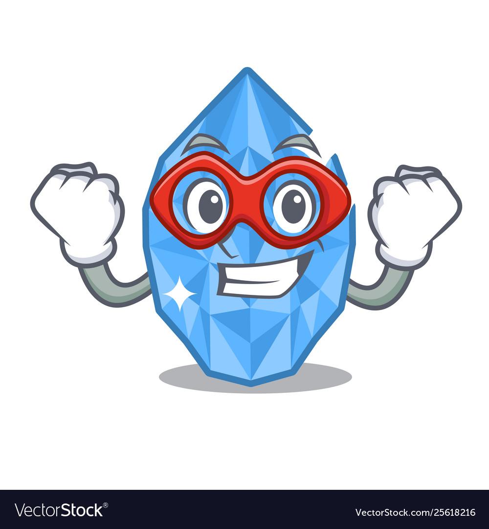 Clipart aquamarine female figure royalty free Super hero aquamarine gem in character shape royalty free