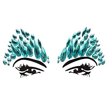 Clipart aquamarine jewel clip library library face jewels festival Mermaid Face Gems pastie Crystals ... - Amazon.com clip library library