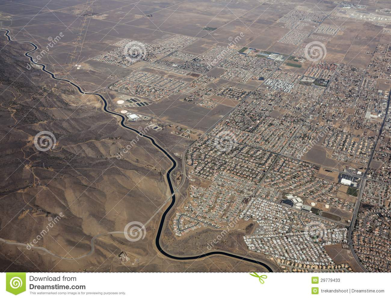 Aqueduct palmdale aerial stock. Clipart aqueducts of california map