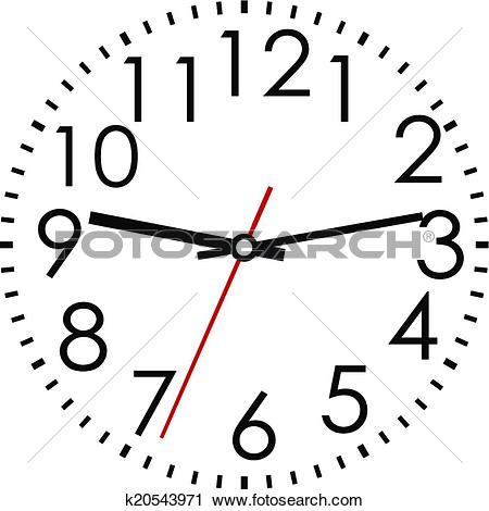 Clipart arabic clock png black and white download Clipart of Round clock face with Arabic numerals k20543971 ... png black and white download