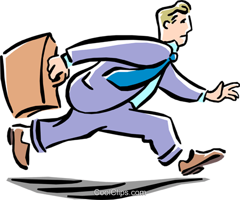 Clipart arbeit banner freeuse library Man running from work free clipart - ClipartFest banner freeuse library