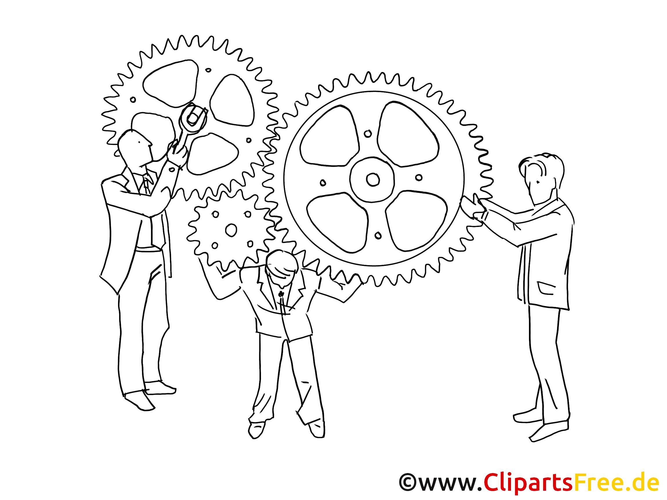 Clipart arbeit download Arbeit im Büro Clipart schwarz-weiss download