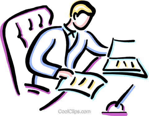 Clipart arbeit png black and white Clipart mann am schreibtisch - ClipartFest png black and white