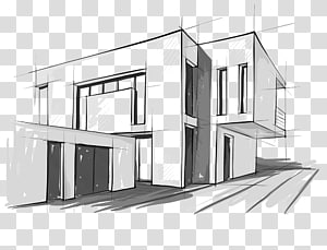 Clipart architectural drawings image free stock Outline of brown building illustration, Building Architecture ... image free stock