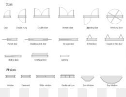 Clipart architectural symbols