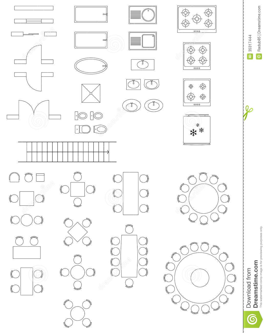 Clipart architectural symbols png free library 9 Architectural Icons Clip Art Images - Architectural Furniture ... png free library