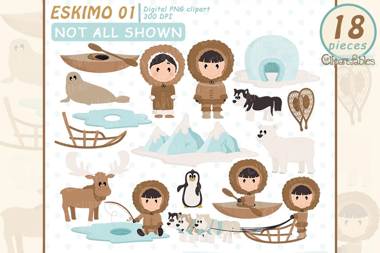 Clipart arctic igloo vector Cute ESKIMO clipart, North pole, Igloo, arctic animals vector