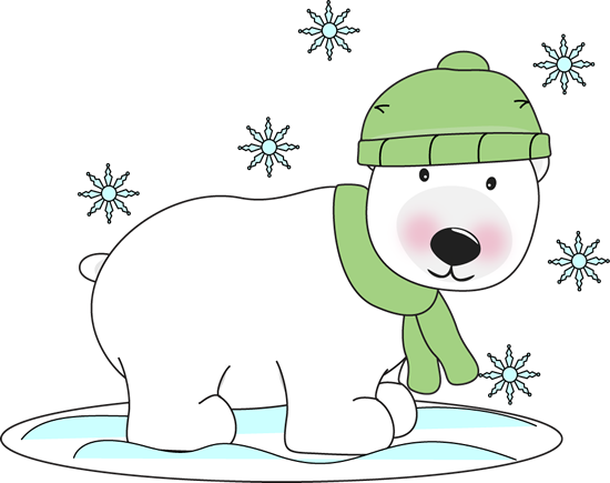 Talking polar bear clipart banner free library free Christmas Polar Bear Clip Art | Winter Polar Bear - winter ... banner free library