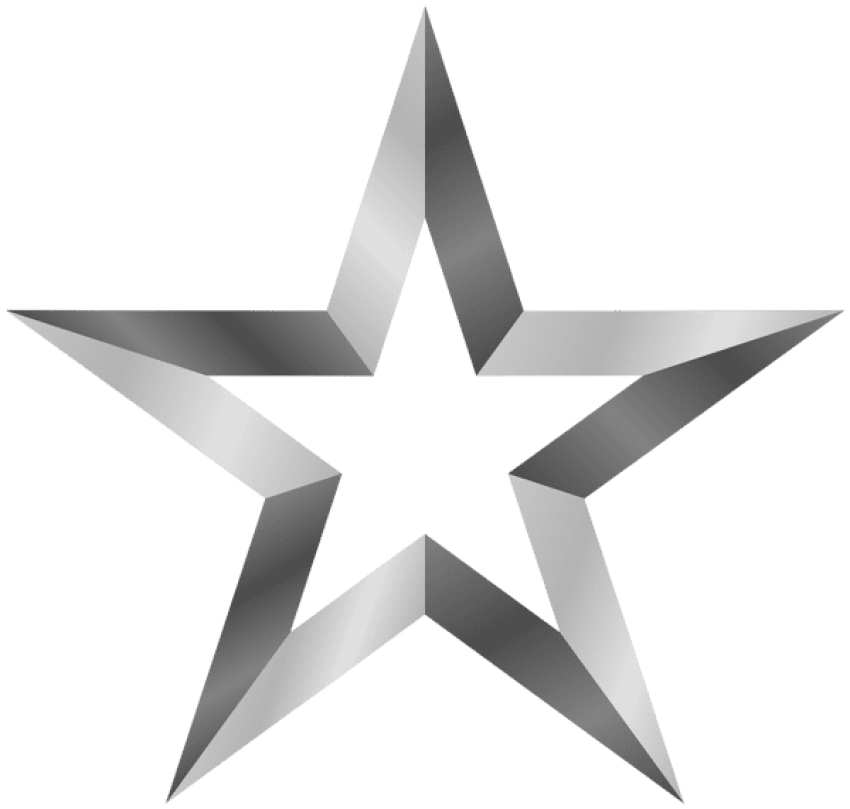 Silver star medal clipart png library stock silver star png - Free PNG Images | TOPpng png library stock
