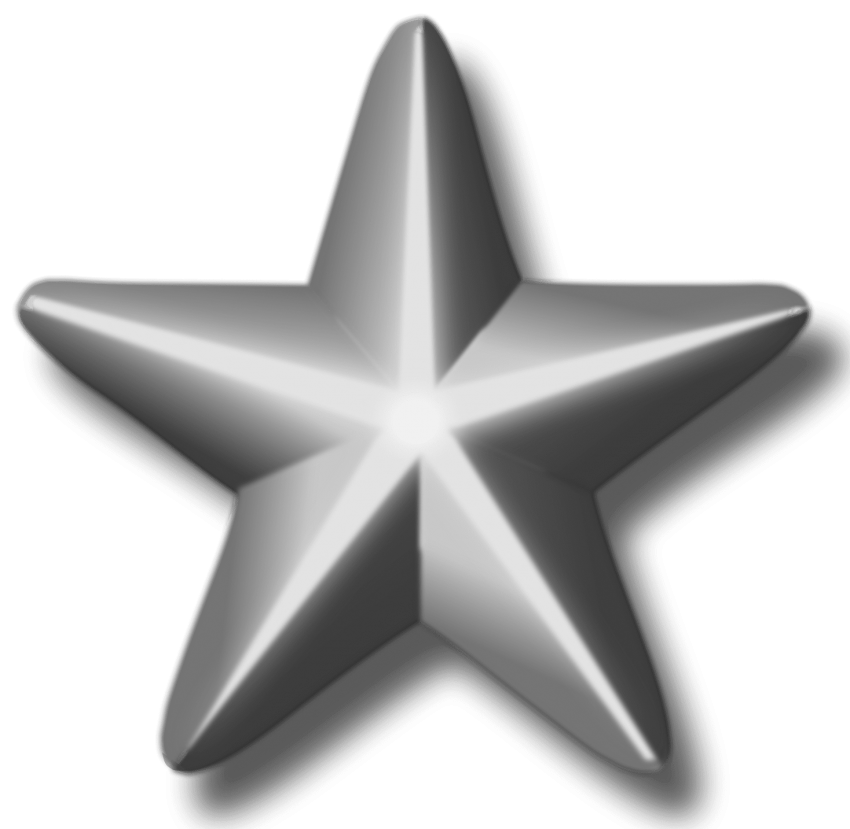 Clipart silver star clipart black and white library service silver star png - Free PNG Images | TOPpng clipart black and white library
