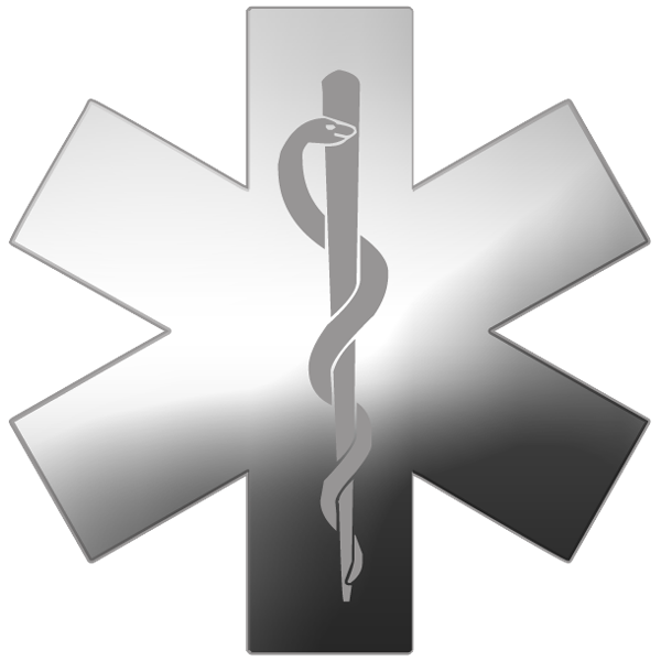 Silver cross clipart image black and white stock Star Of Life Transparent PNG Pictures - Free Icons and PNG Backgrounds image black and white stock