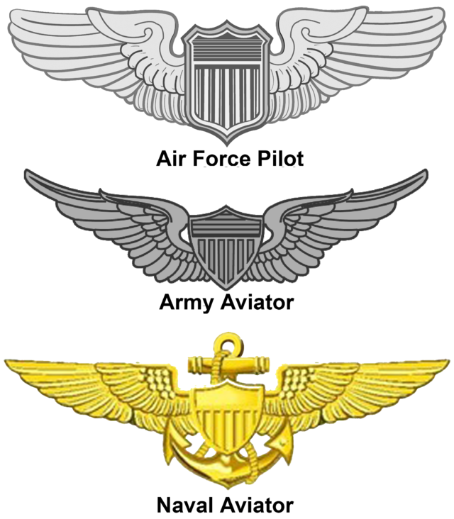Clipart army silver star svg royalty free download United States Aviator Badge - Wikiwand svg royalty free download