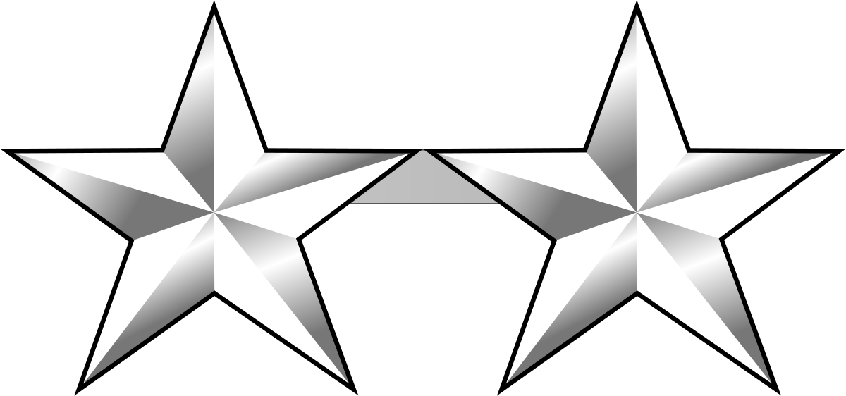 Clipart army silver star clip art freeuse library Two-star rank - Wikipedia clip art freeuse library