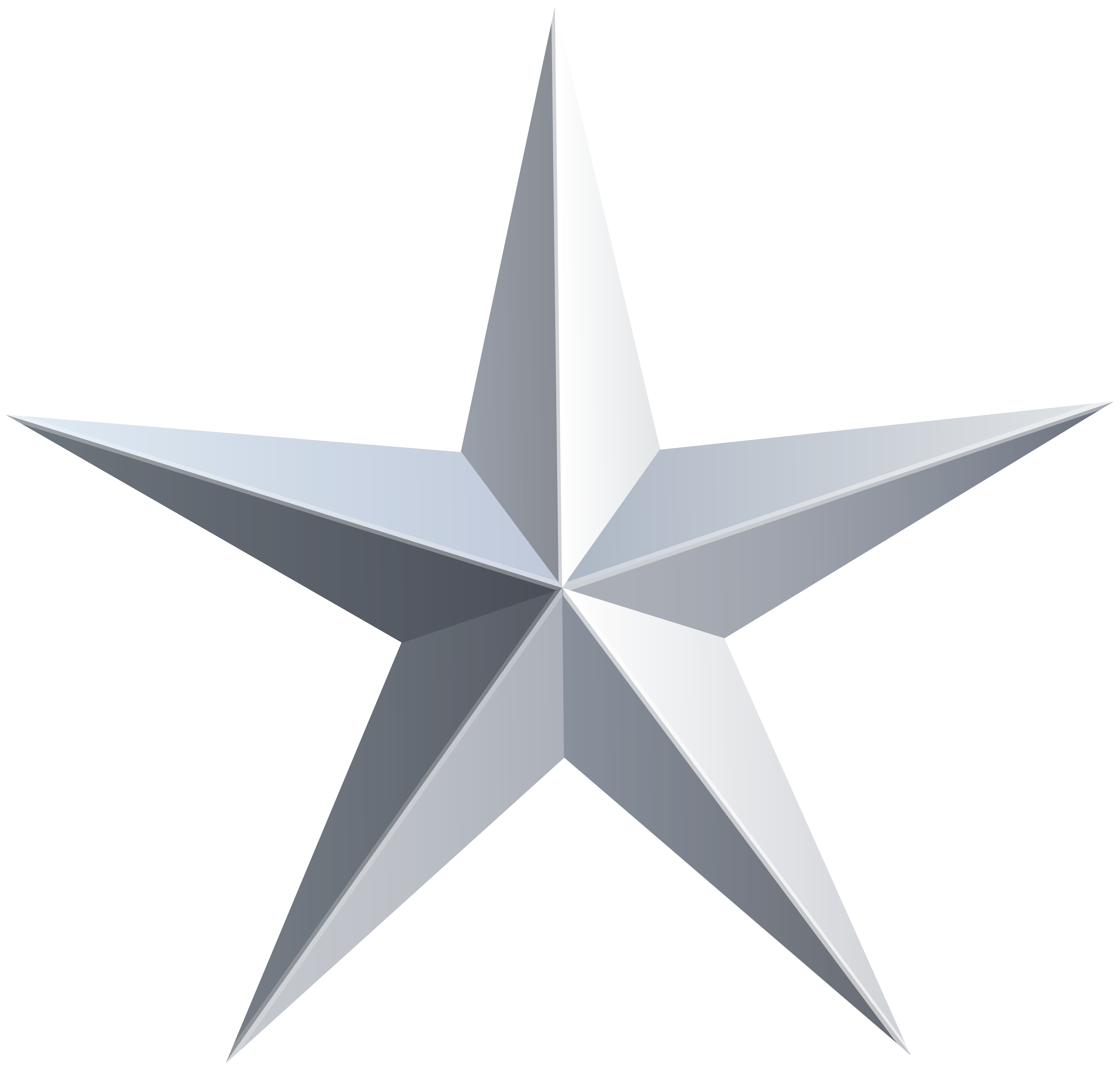 Solid star clipart clipart library download Silver Star Transparent PNG Clip Art | Starry | Pinterest | Silver ... clipart library download